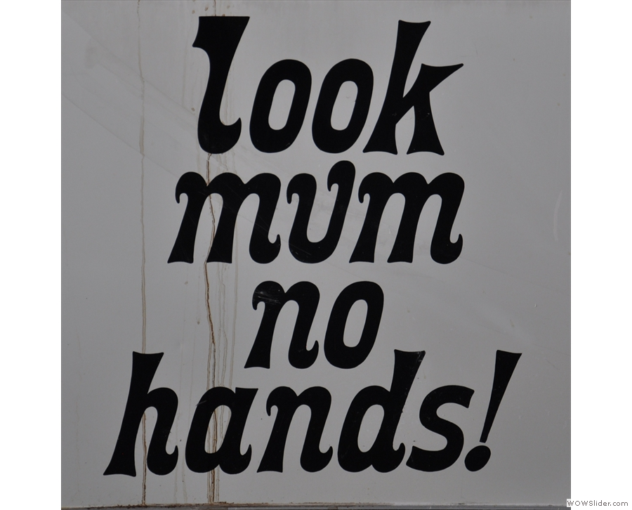 The Look Mum No Hands! Pop-up was back again under Hungerford Bridge this summer.