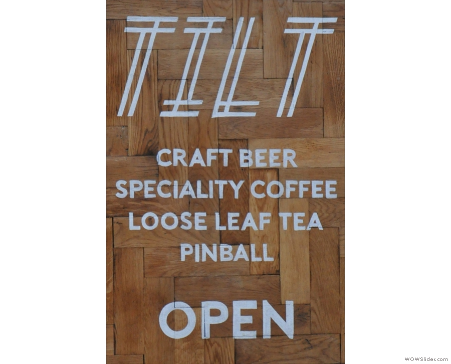 First up, Birmingham's Tilt: speciality coffee, craft beer, loose leaf tea, pinball & a basement.