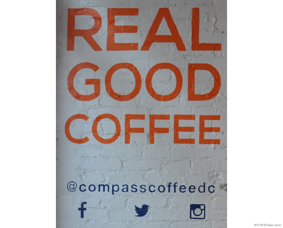 Compass Coffee, providing great coffee where there once wasn't even a neighbourhood.