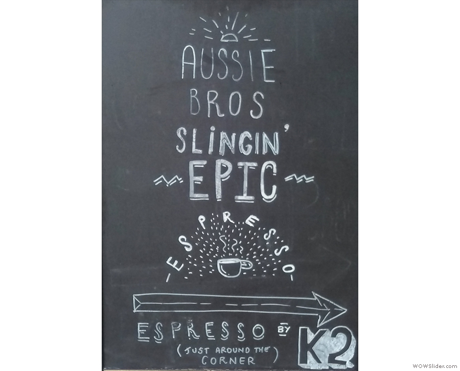 Hidden down an alley off Parsons Green, maybe only the locals know about Espresso by K2.