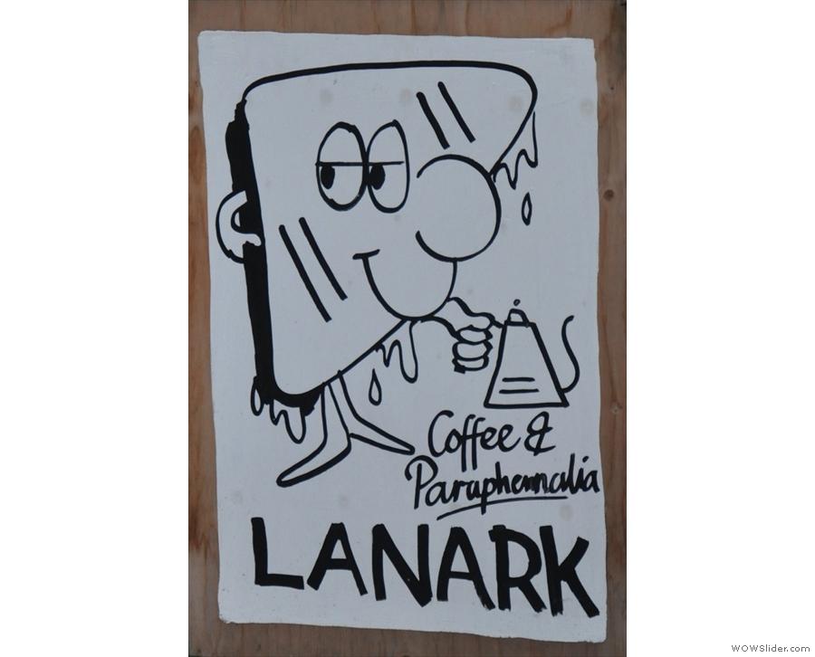 Lanark Coffee, a lovely (and tiny) spot on London's Hackney Road.