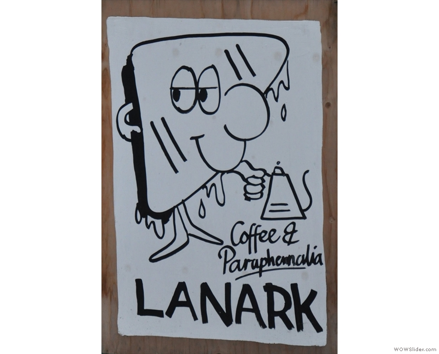 Lanark Coffee, on London's Hackney Road, is both tiny and long & thin.