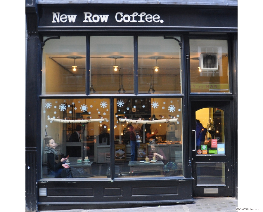 New Row Coffee, with enough room for seating at the counter and at a window bar!