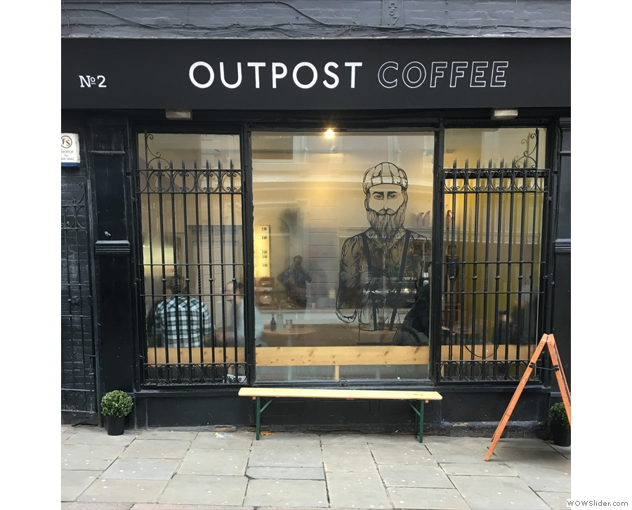 Nottingham's Outpost Coffee, a lovely little spot right in the heart of the city.