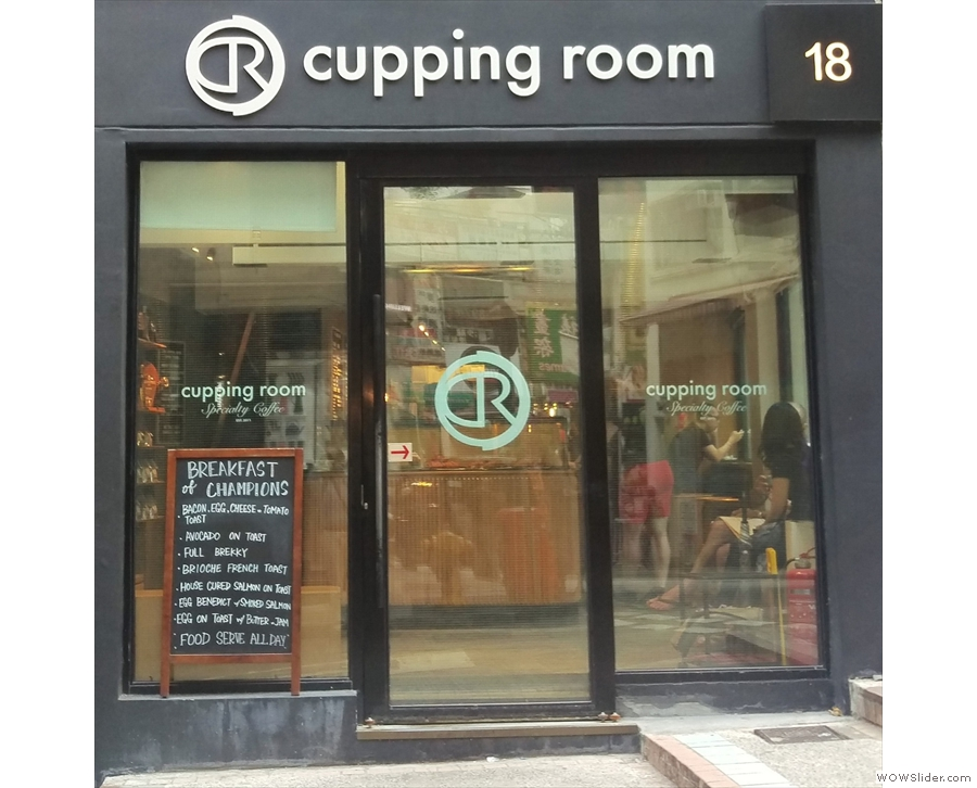 The Cupping Room Central, bringing awesome coffee and Eggs Royale to Hong Kong.