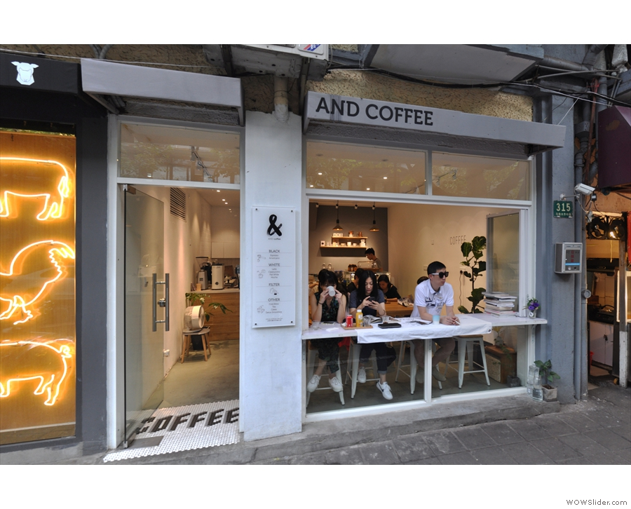 And Coffee, a chance discovery on Shanghai's Wulumuqi Middle Road.