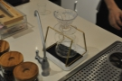 ... while the V60 is on this neat stand which fits perfectly on the scales.