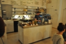 Another view of the counter, which is at the back, offset to the left...
