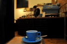 My espresso casts its eye over the bar.