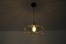 ... as well as the lights themselves. The metal latice lampshades are pretty, although...