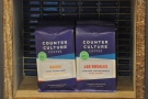 Counter Culture, the house roaster, is prominantly displayed...