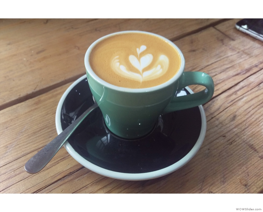 On my return I was treated to a flat white, made with a single-origin called 'The Pretender'.