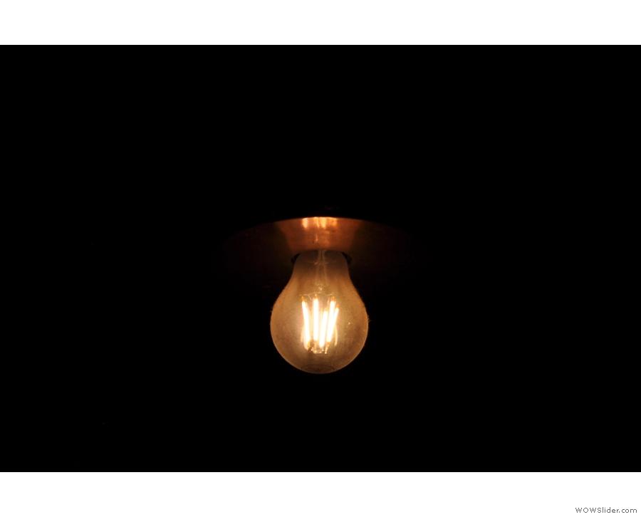 Obligatory bare lightbulb shot.