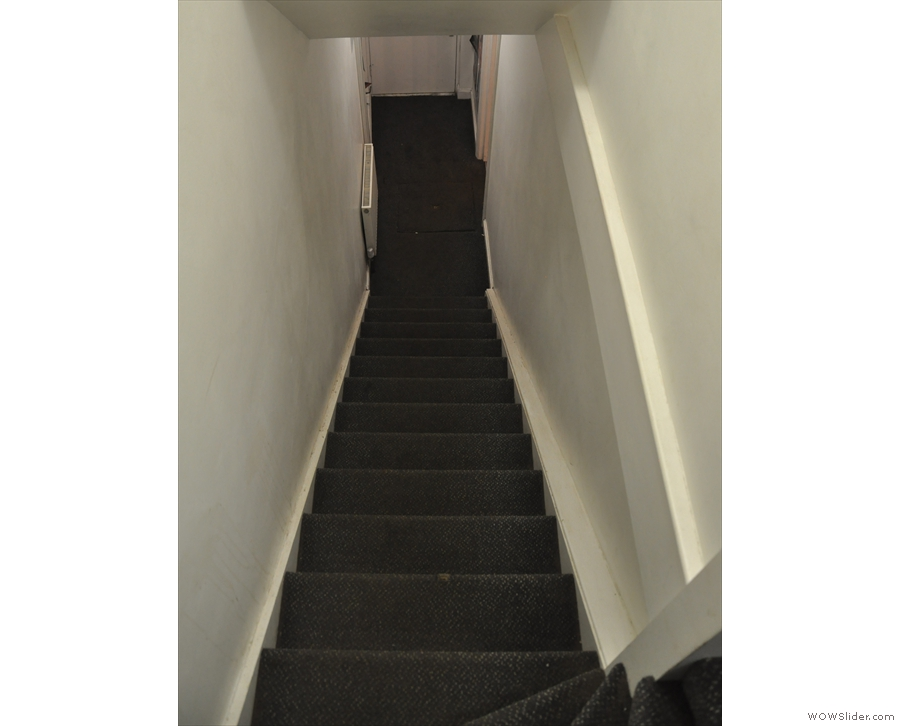 Why do stairs always look steeper when you are heading down them?