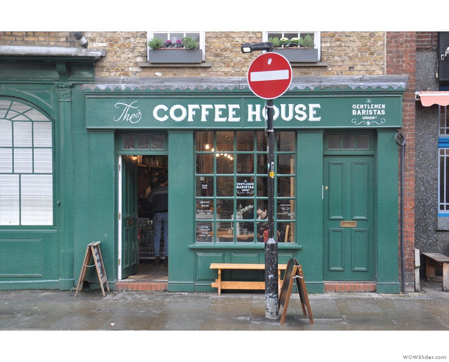 Shame about the No Entry sign though. Hope it doesn't apply to the coffee house!