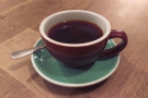 On my first visit, I had the Fez, a Kenyan Peaberry single-origin, through the V60.