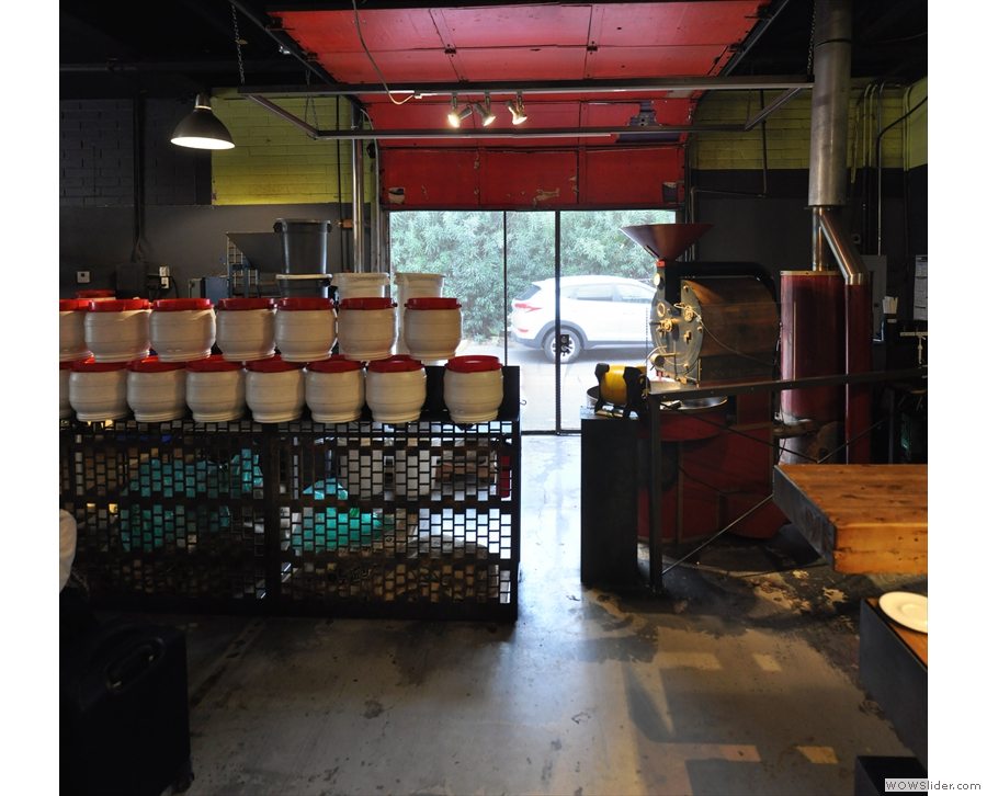 The other part of Cartel is the roastery, which, for the time being, is on the left-hand side...