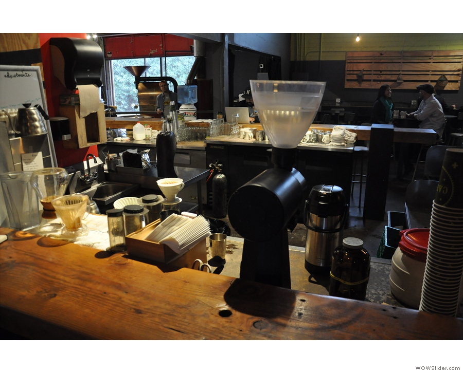 The pour-over section of the counter.