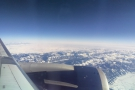 Until, that is, we neared our destination, when we flew over the Rockies...