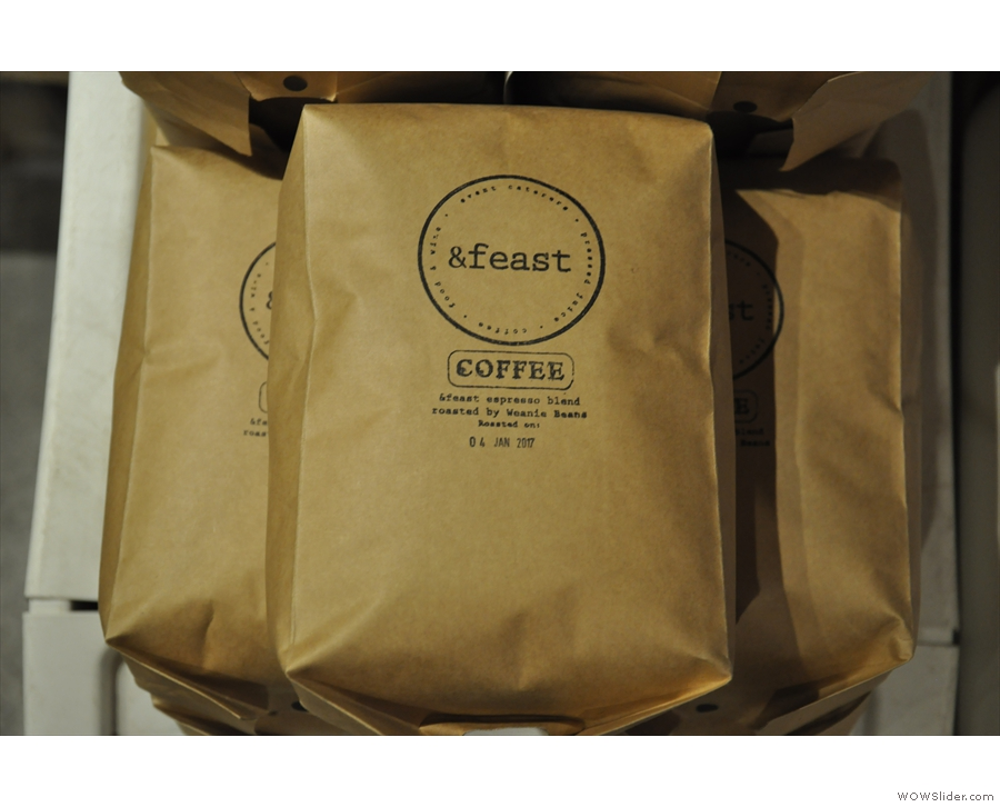 Weanie Beans also roasts bespoke blends for coffee shops (such as &Feast).