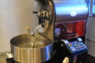 The heart of the operation, the 15kg Toper roaster.