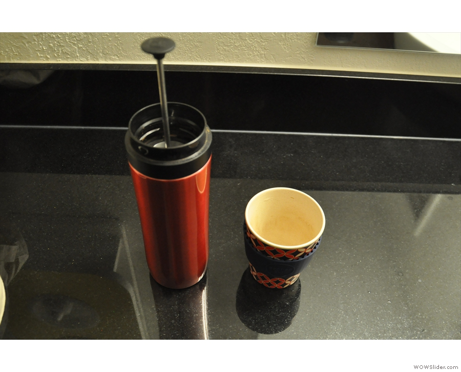 Here my Travel Press and ecoffee cup get in on the act.