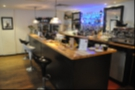 Inside, we find the bar, sporting the shiny new brew bar.