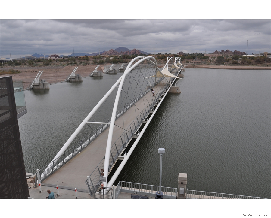 However, before we go, a view of the bridge from above...