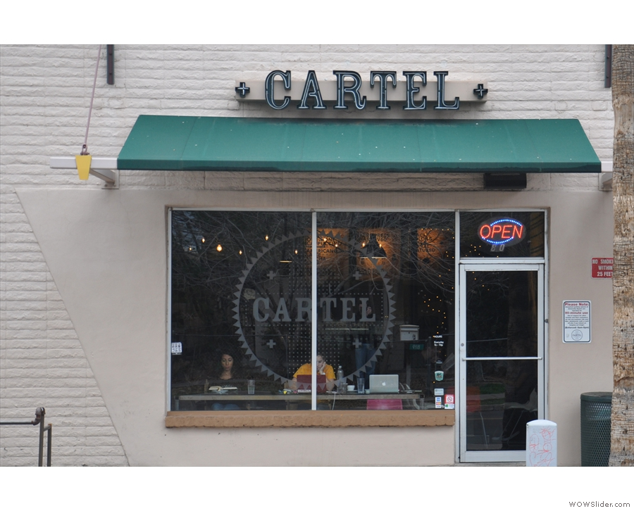 ... which is home to Cartel Coffee Lab's cafe/roastery.