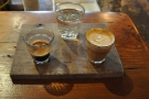 My split shot: an espresso and a piccolo.