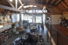 The view from the mezzanine is amazing, looking out over the counter and roastery.