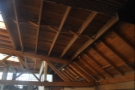 I also loved that it is open all the way to the gorgeous wooden rafters.