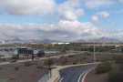 The view from the top of the hire car centre. Look at those mountains to the south!