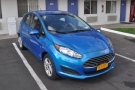My steed for the next 12 days, a rather striking blue Ford Fiesta, parked back at the motel.