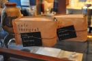 The beans are also for sale: here, the Dulcinea blend...