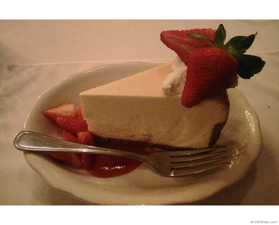 We also went out in the evenings for dinner/socialising. The highlight was this cheesecake.