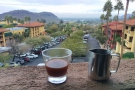 All too soon the week came to an end. My final coffee on the balcony, admiring the view.