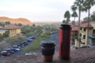 I began each day on the balcony. Here my Travel Press & eCoffee Cup enjoy the view.