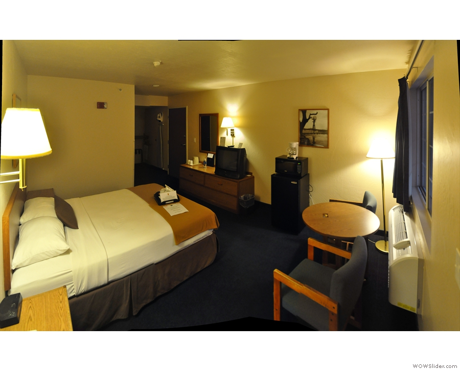 However, my room in the Super 8 was spacious and comfortable...