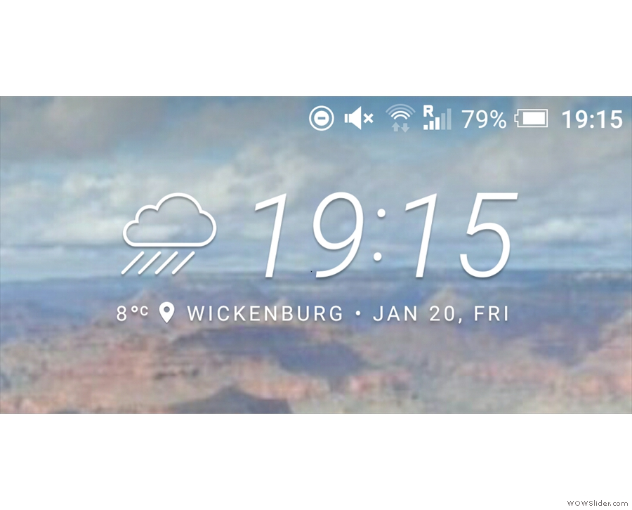 After an hour and a half on the road, I reached Wickenburg. This is a fairly accurate representation of the weather!