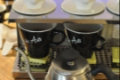 The coffee's ready for tasting. Have I mentioned the shiny pouring kettle by the way?