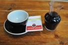 My coffee, a Kenyan, complete with tasting/origin notes...