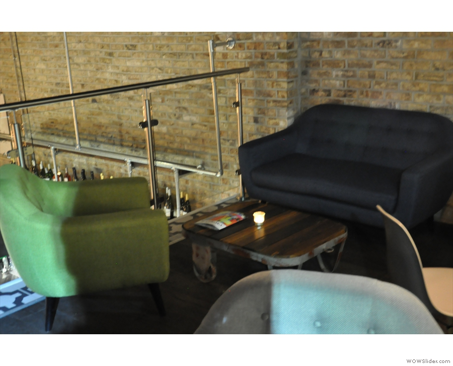 There's plenty of seating up here, including some lovely sofas!
