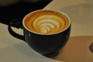 ... et voila! Lovely latte-art. Great coffee too!