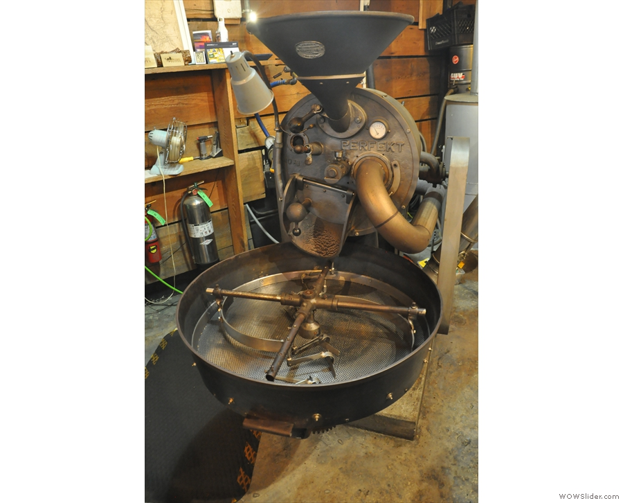 A front-on view, where it looks very much like a modern roaster!