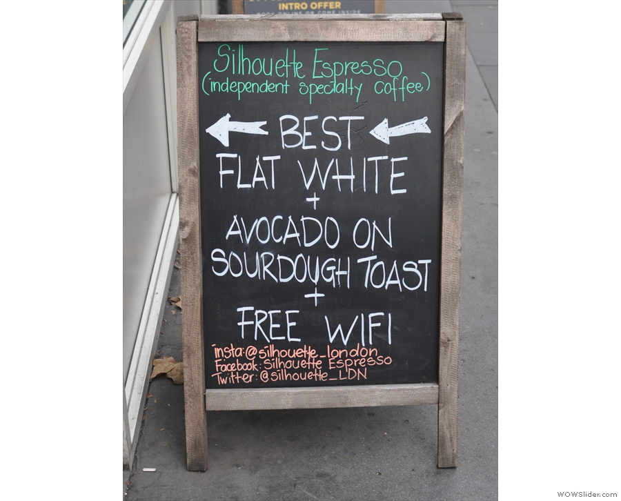 Well, the A-board gives the game away: it's the new home of Silhouette!