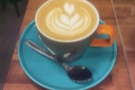 This is a cappuccino for Alexandra (AKBoogie), who I'd arranged to meet in Silhoutte.