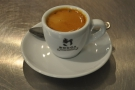 The resulting espresso, quite a long shot. I wonder who Bocca Coffee Roasters are/were?