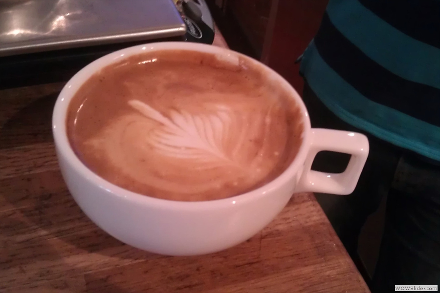 And in true Blue Peter fashion, here's one that Bradley prepared earlier. This one looked and tasted even better! Unforunately the picture makes the cup look as big as a bucket!