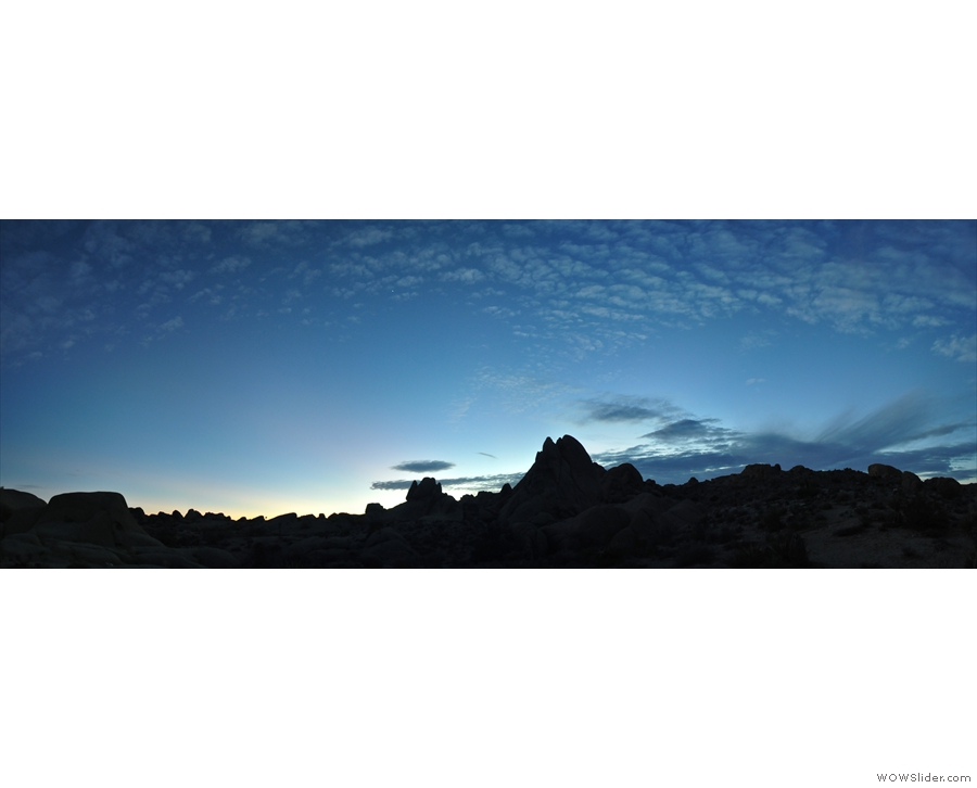 I leave you with this final shot of the Joshua Tree National Park at dusk.